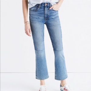 Madewell two tone retro crop jeans